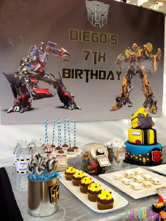 Transformer Themed Birthday Party sweets