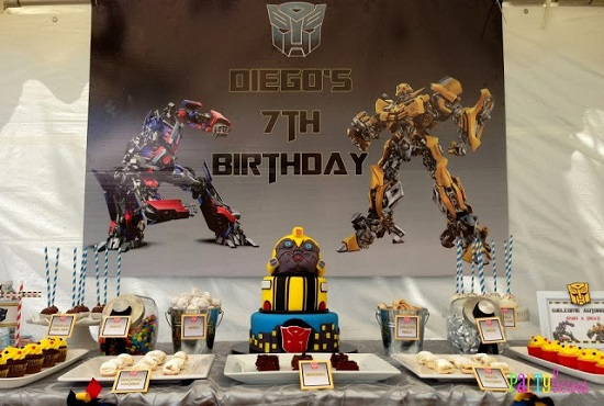 Transformer party tablescape