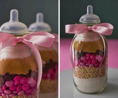 A Gift of Dry Cookie Mix baby shower favors