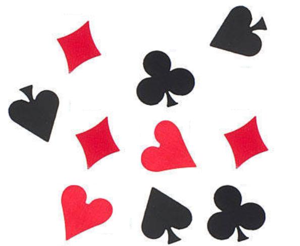 casino baby shower theme confetti