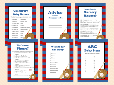 all stars baby shower games printable