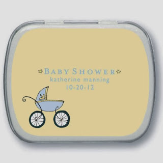baby shower mint tins