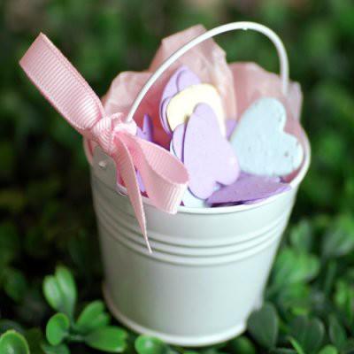 baby shower pails favor tins