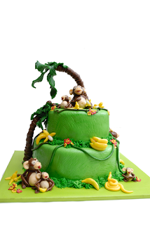 babyshowerideas4u monkey themed baby shower cake