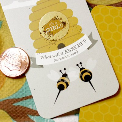 beehive-gender-reveal-scratch-cards-Gender Reveal Theme Ideas