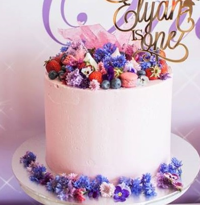colorful berry cake