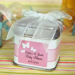 butterfly baby shower favor tins