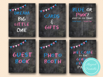 chalkboard-Gender-reveal-party-signs-girl-or-boy-signs-gender-reveal-baby-shower-signs