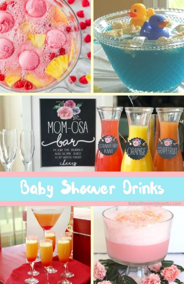 creative baby shower drinks to serve