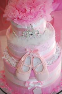 diaper cake in ballerina theme