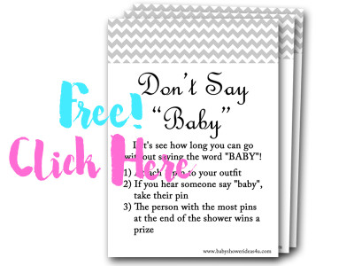 dont-say-baby, free baby shower games