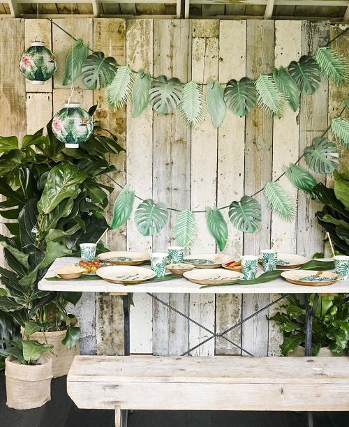 eco friendly baby shower tropical theme