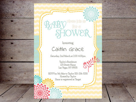 editable sunny spring invitation