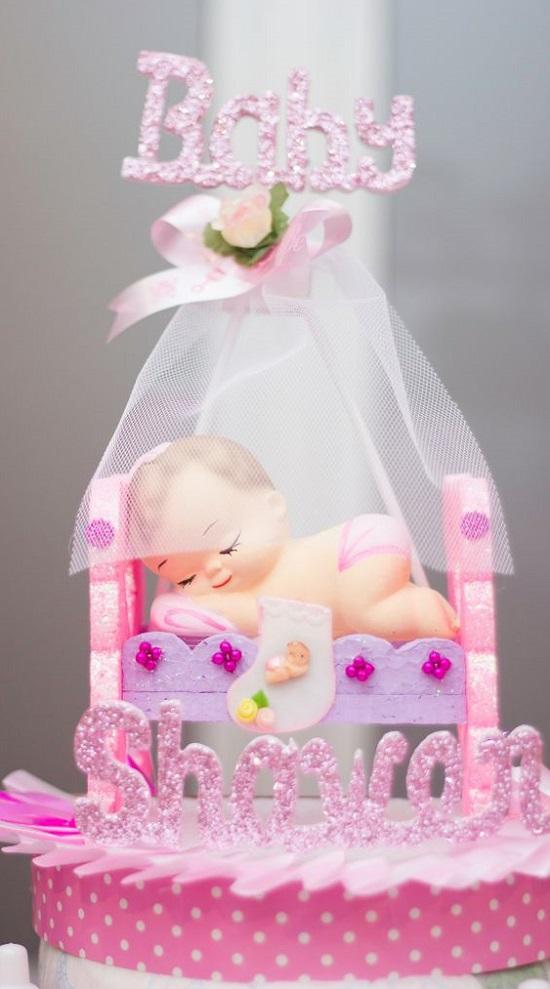 fancy baby girl cake idea