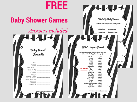 free-baby-shower-games-baby-word-scramble-baby-celebrity-whats-in-your-purse