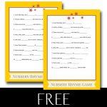 FREE Printable Baby Nursery Rhyme Game