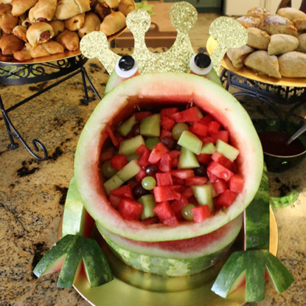 frog-prince-baby-shower-fun-watermelon-food-idea