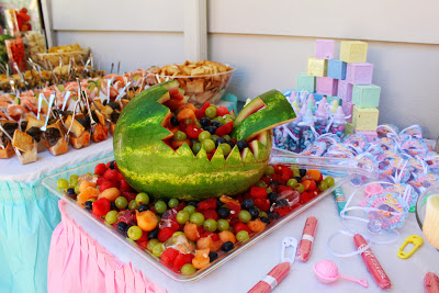 fruit-platter-baby-shower-carriage
