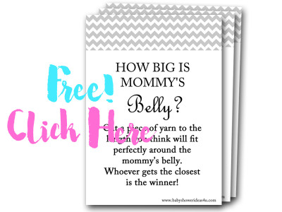 how-big-is-mommys-belly, free baby shower games