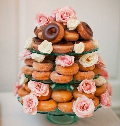 tiered doughnut tower cake