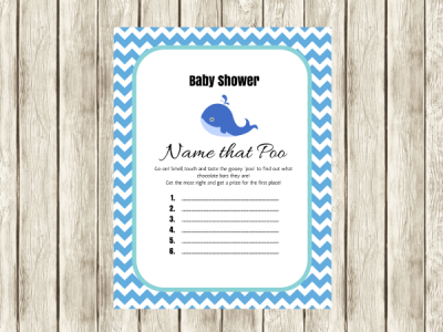 name that poo printable blue whale theme