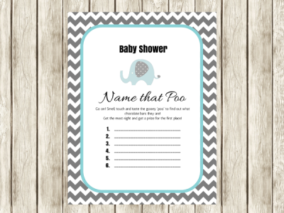 name that poo printable elephant theme