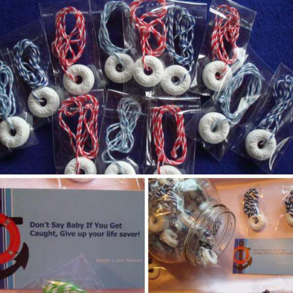 nautical baby shower games and favors life savers necklace