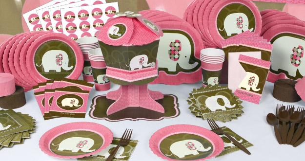 Pink Elephant Designer Tableware
