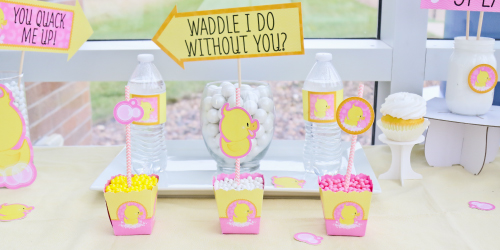 pink-duck-baby-shower-supplies