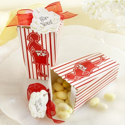 popcorn themed baby shower favors
