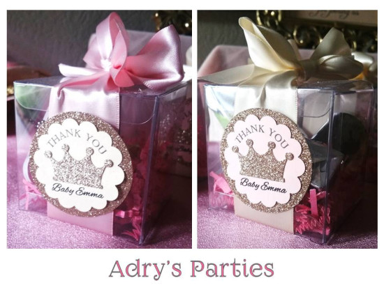 princess royal baby shower favor boxes