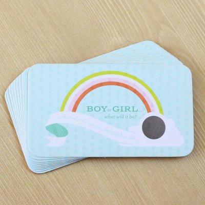 rainbow-gender-reveal-scratch-cards-Gender Reveal Theme Ideas