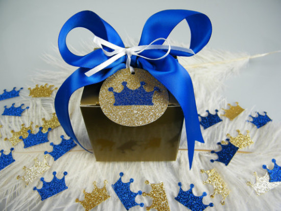 royal prince blue baby shower favors