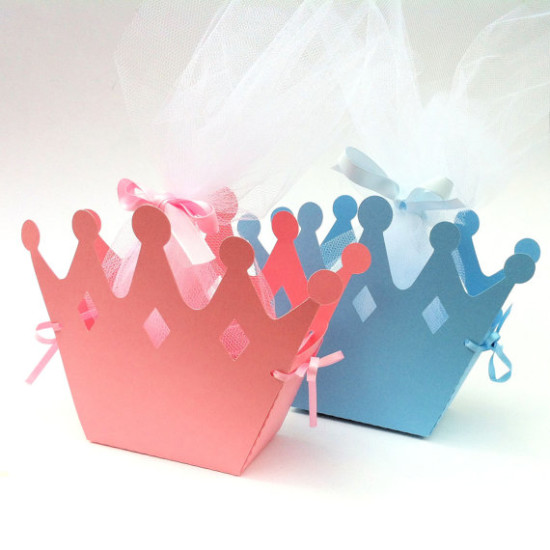 royal princess and prince baby shower favor boxes