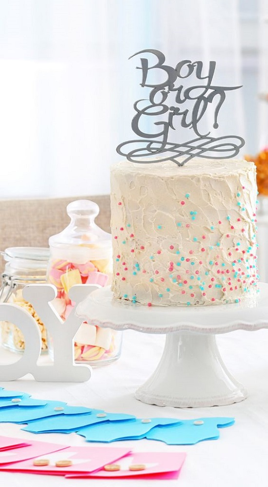 simple baby shower cake topper idea