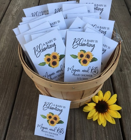 sunflower personalized sunflower seed packets