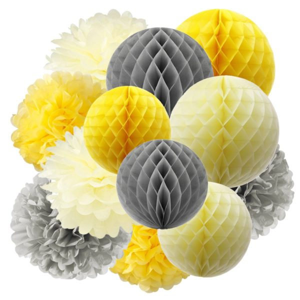 sunshine-baby-shower-paper-honeycomb-decoration