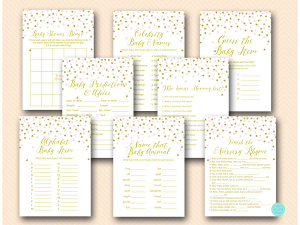 tlc488-pink-and-gold-baby-shower-game-package-printable-instant-download-princess