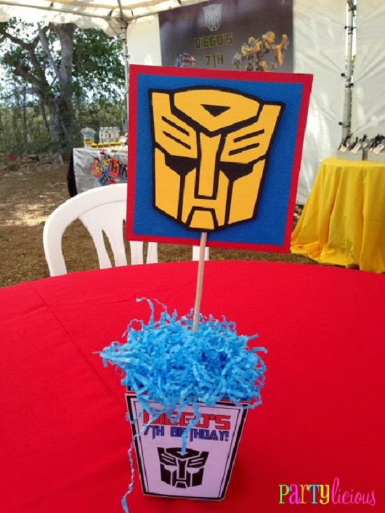 transformer party centerpieces