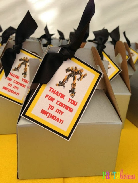 transformer party favor boxes