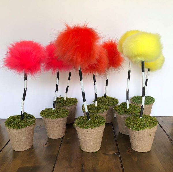 Dr Seuss Truffula trees Decoration