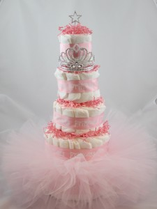 tutu baby shower diaper cake