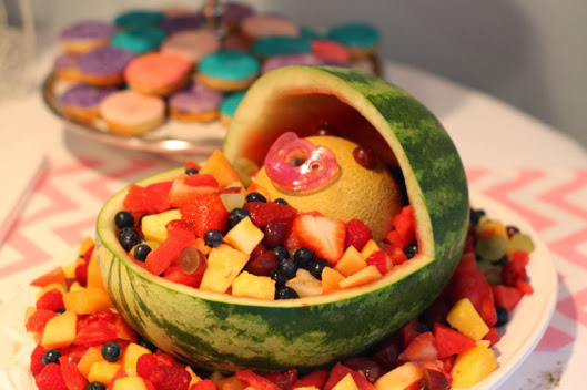 watermelon baby carriage fruit platter