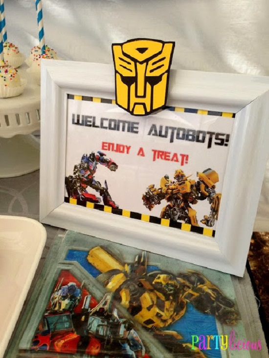 welcome autobots sign