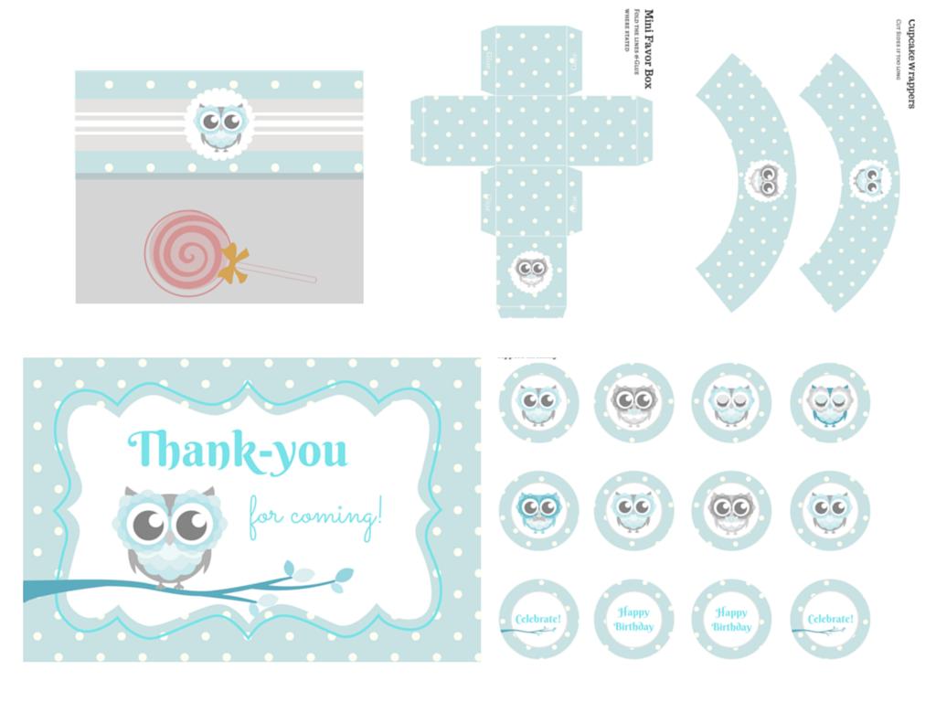 owl themed baby shower printable