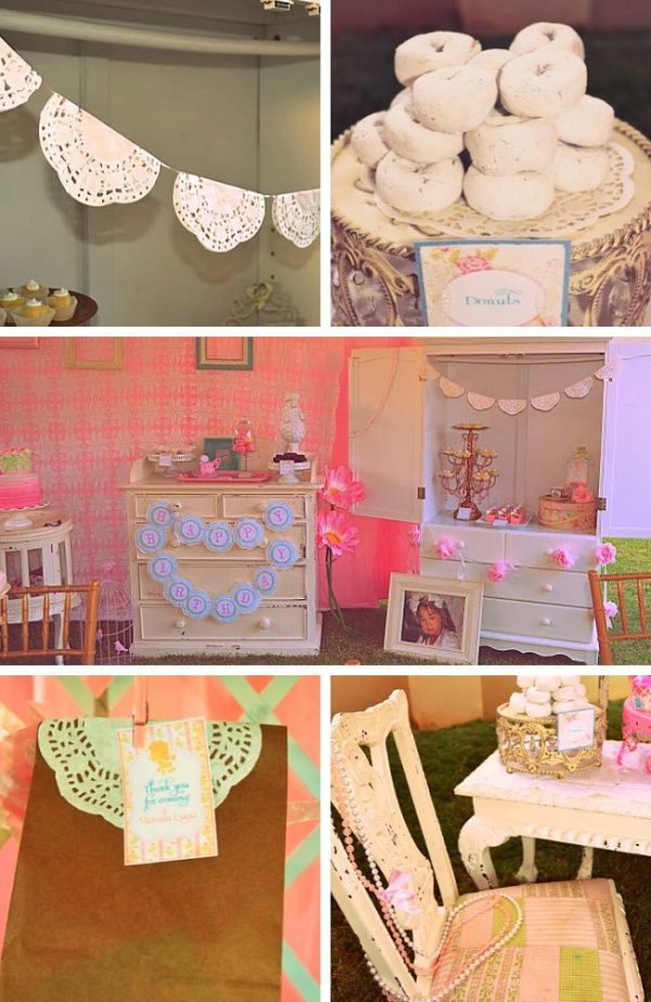 A Vintage Shabby Chic Baby shower Tablescape
