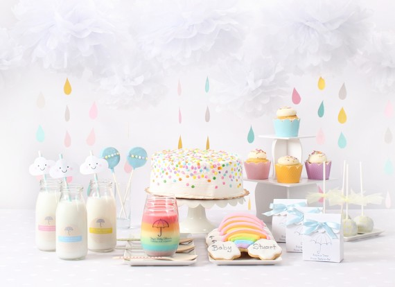 Clouds & Rainbow Baby Shower