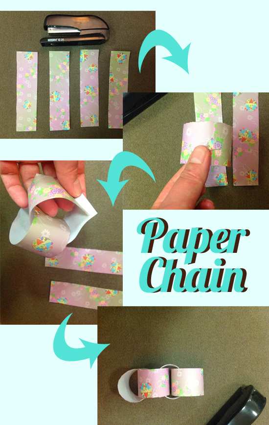 DIY How to Make a Simple Paper Chain Decoration