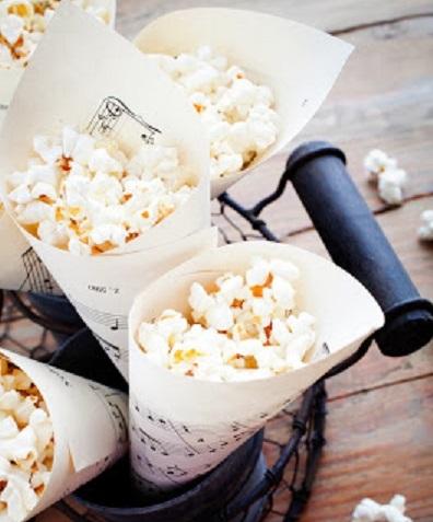 DIY Making Paper Treat Cones for popcorn
