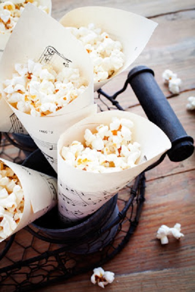 DIY Making Paper Treat Cones for popcorn